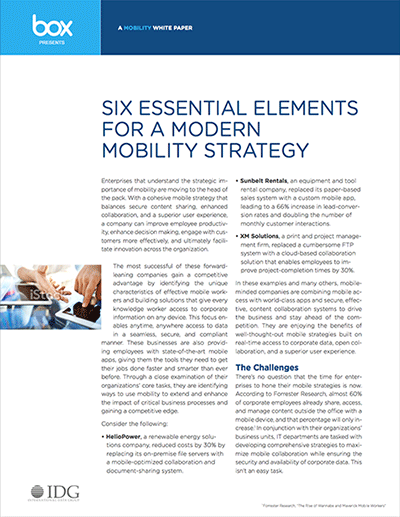 Six Essential Elements for a Modern Mobility Strategy