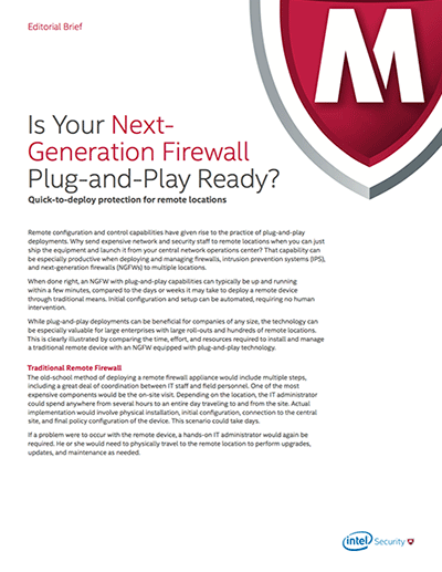 Is Your Next Generation Firewall Plug and Play