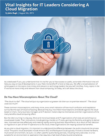 Vital Insights for IT Leaders Considering A Cloud Migration