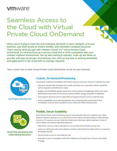Seamless Access to the Cloud with Virtual Private Cloud On Demand